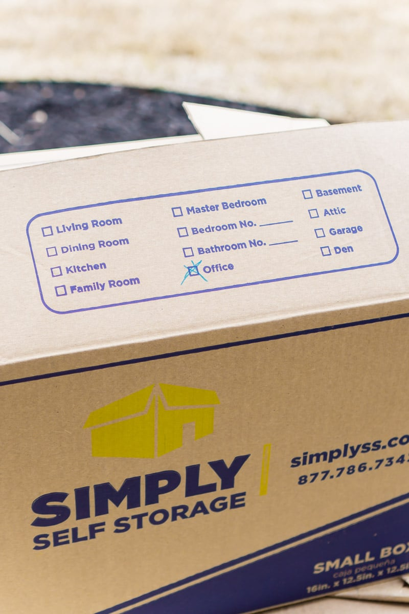 A closed storage box and other tips for showing your home