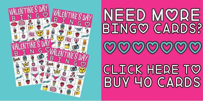 picture about Printable Valentine Bingo Cards identified as Totally free Printable Valentine Bingo Playing cards for All Ages - Enjoy