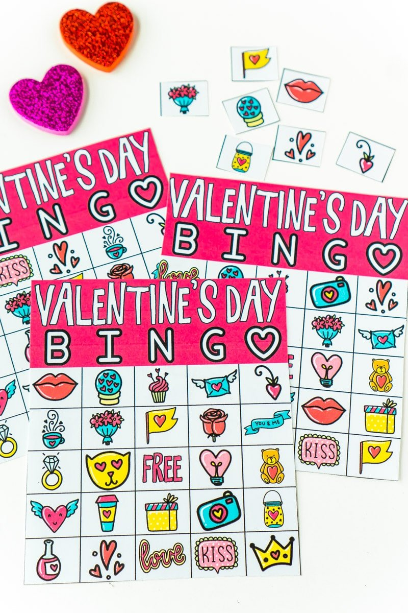 image regarding Printable Valentine Bingo Cards titled Absolutely free Printable Valentine Bingo Playing cards for All Ages - Perform