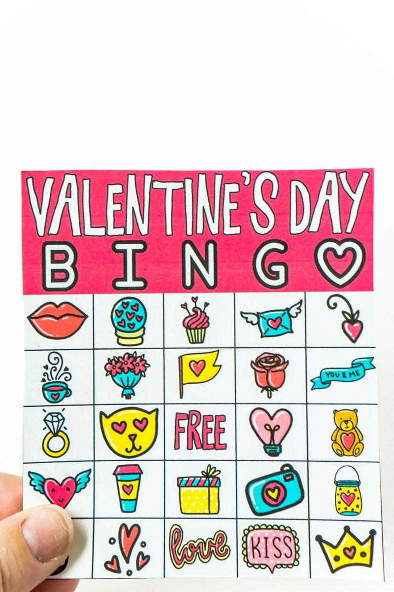Satisfactory image in printable valentine bingo card