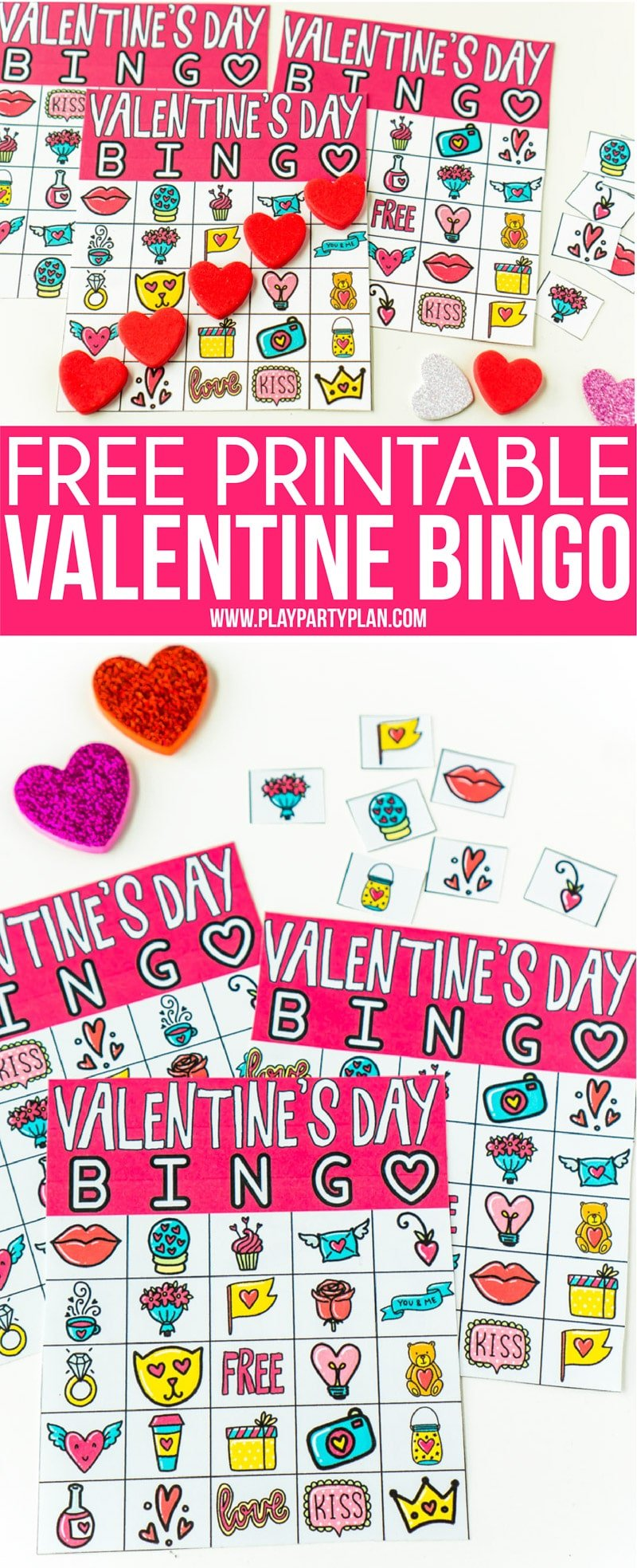 photo regarding Printable Valentine Bingo Cards titled No cost Printable Valentine Bingo Playing cards for All Ages - Perform