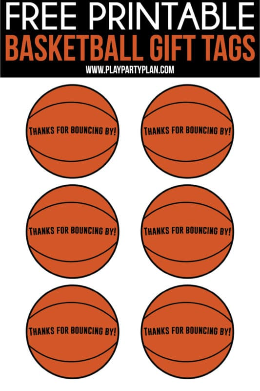 image about Printable Basketball Pictures identified as The Least complicated Basketball Social gathering Favors - Participate in Bash System