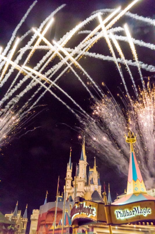 Fireworks before Disney After Hours