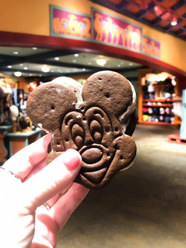 Mickey ice cream sandwich during Disney After Hours