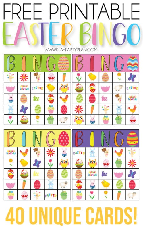 graphic regarding Printable Bingo for Kids named Cost-free Printable Easter Bingo Playing cards - Participate in Social gathering Software
