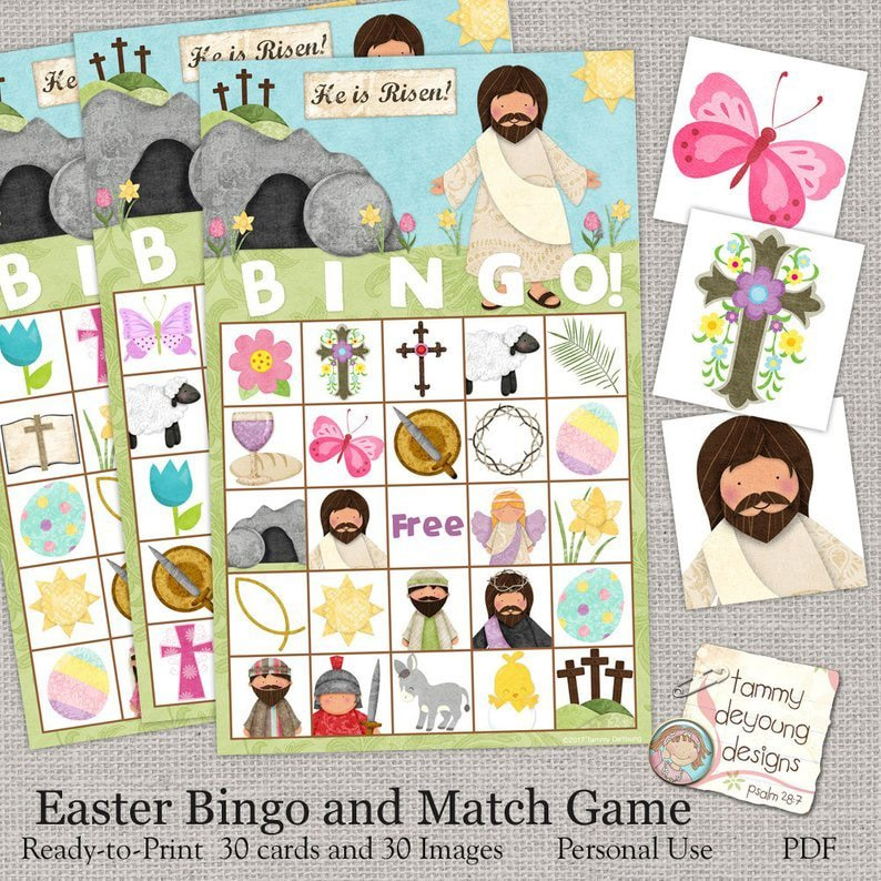 Easter bingo cards and other Easter activities