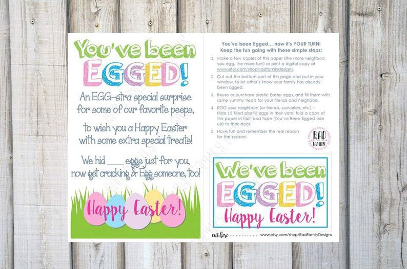 You've been egged signs and other Easter activities for adults