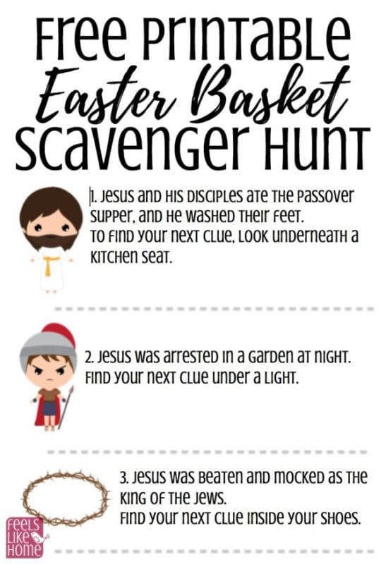Religious Easter activities for kids like a Christ scavenger hunt