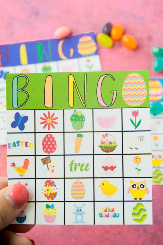 This is a picture of Effortless Printable Easter Bingo Cards