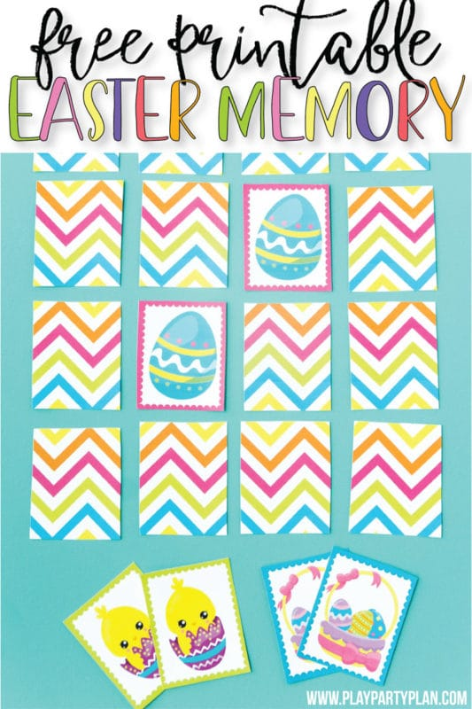 graphic regarding Printable Memory Games known as Absolutely free Printable Easter Memory Match - Engage in Get together Application