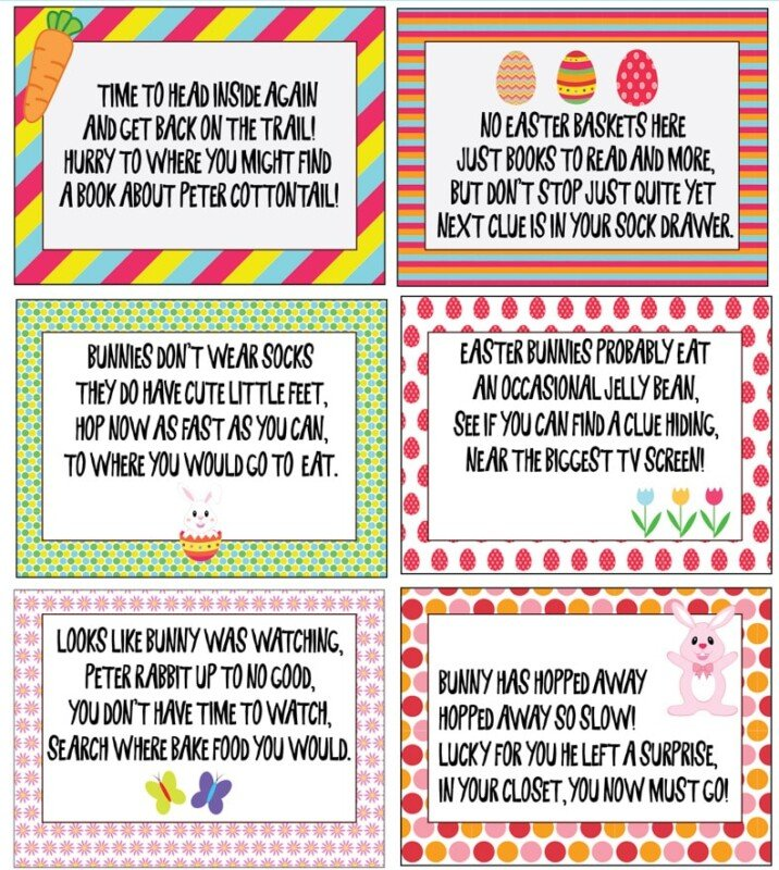 This Easter scavenger hunt is perfect for kids! With free printable clues for both indoor and outdoor, the printables are perfect for any home! And tons of ideas for prizes to leave with your riddles!