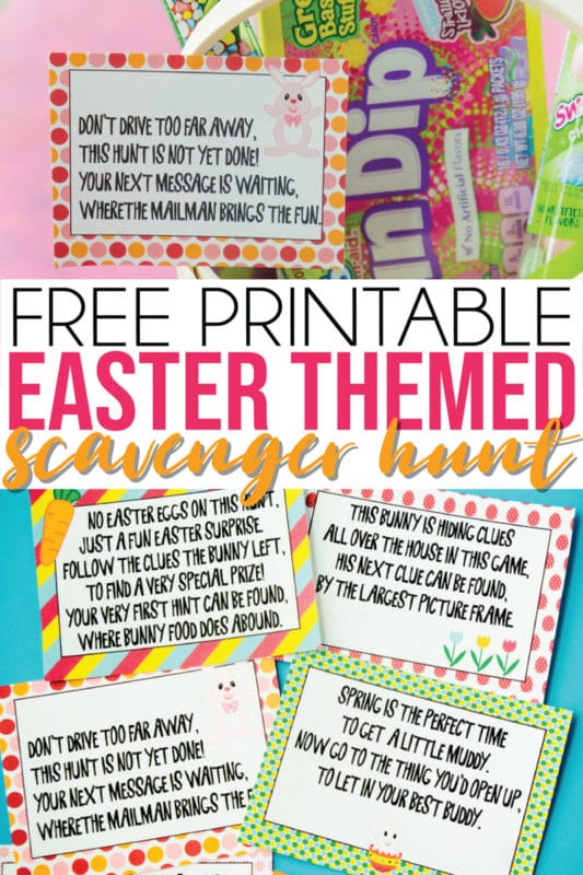 photograph about Clue Cards Printable named Totally free Printable Easter Scavenger Hunt Clues - Participate in Bash Software