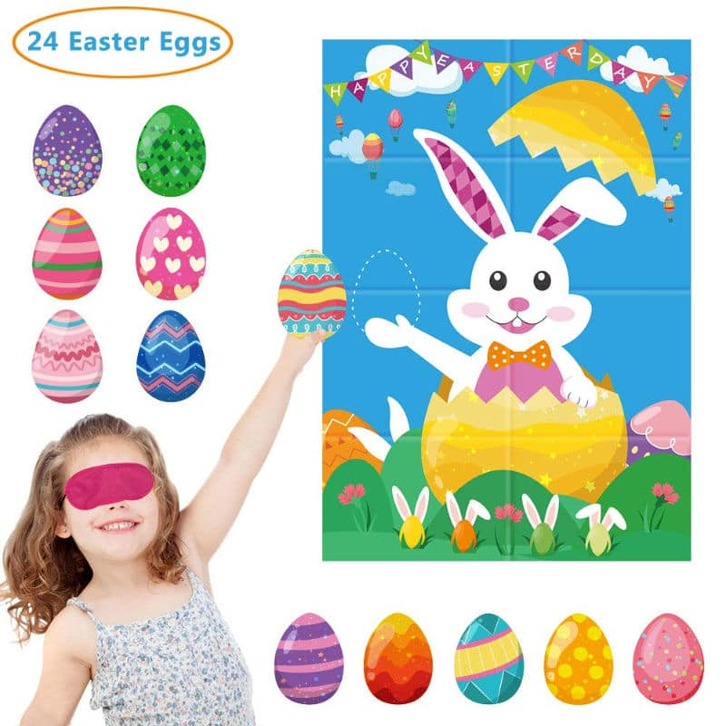 Easter activities like pin the egg on the bunny
