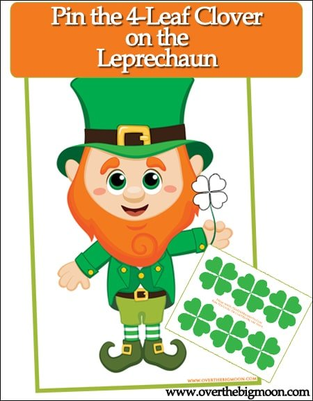 Pin the 4 leaf clover game and other St. Patrick's Day activities