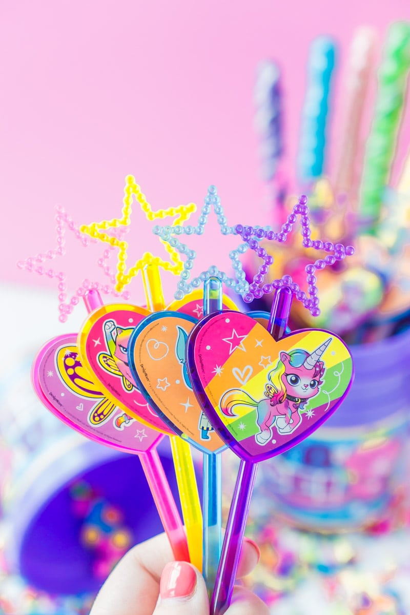 rainbow butterfly unicorn kitty star wands