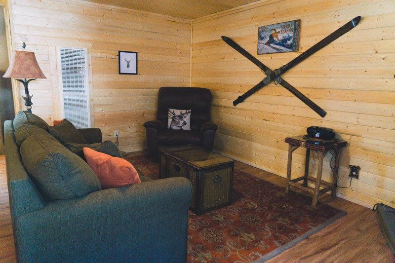 Interior of Elk Run Ruidoso cabins