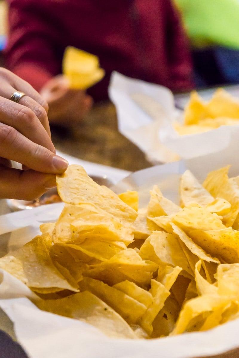 Chips at Casa Blanca, one of the best Rudioso restaurants