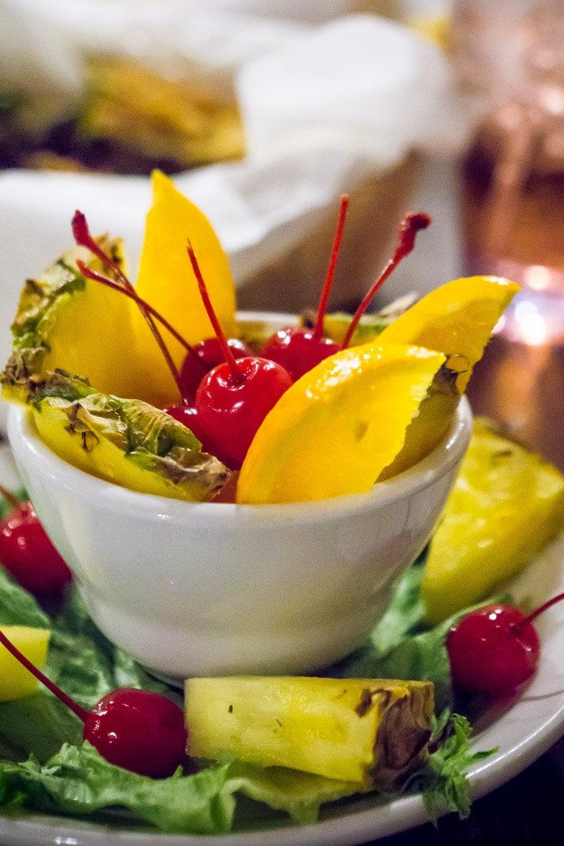 Fruit cup at Casa Blanca in Ruidoso New Mexico