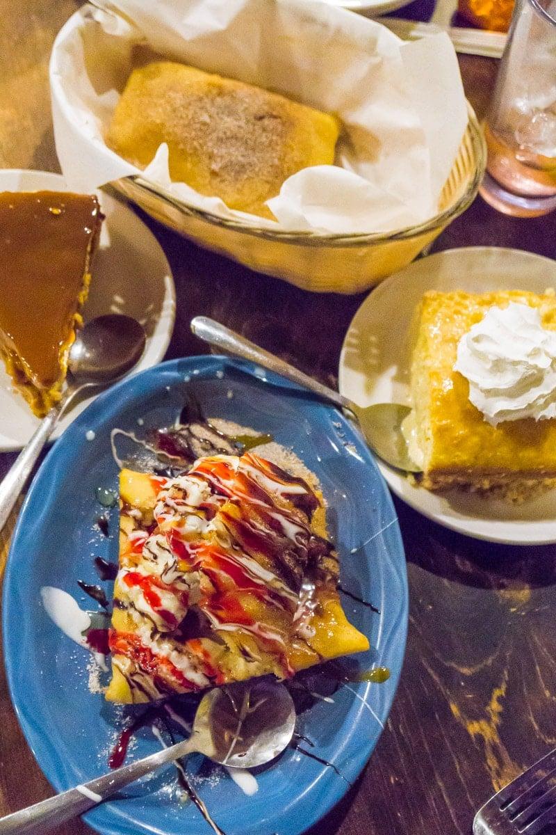 Desserts at one of the best Ruidoso restaurants