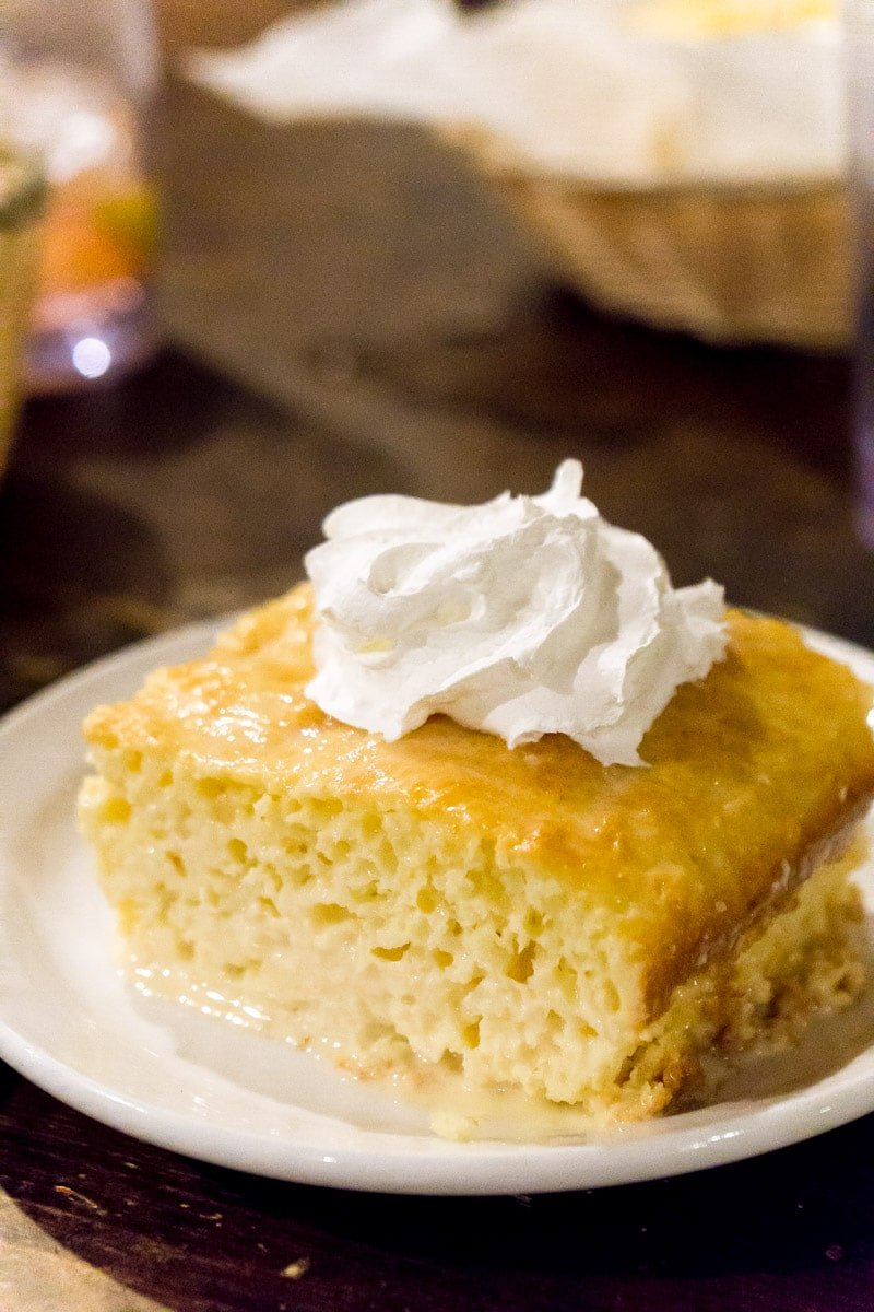 Tres Leches at Casa Blanca, one of the best restaurants in Ruidoso