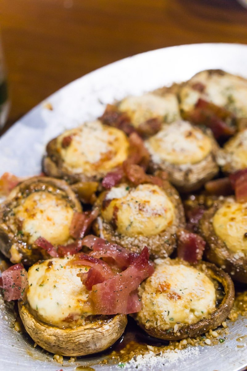 Stuffed mushrooms at one of the best Ruidoso restaurants