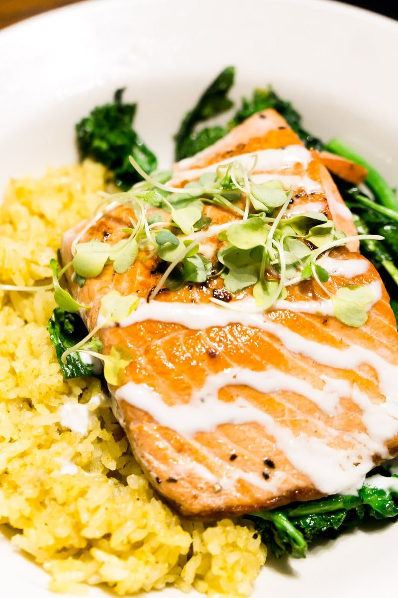 Salmon at one of the best restaurants in Ruidoso