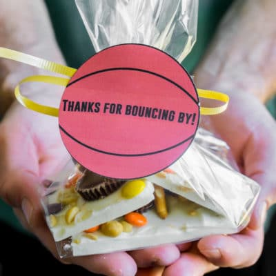 Reese's Basketball Bark Party Favors