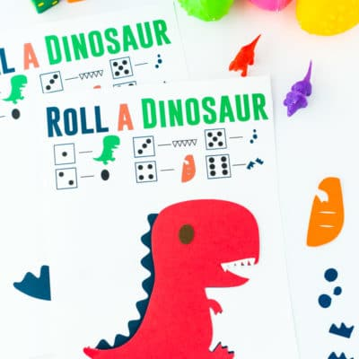 Free Printable Roll The Dinosaur Game
