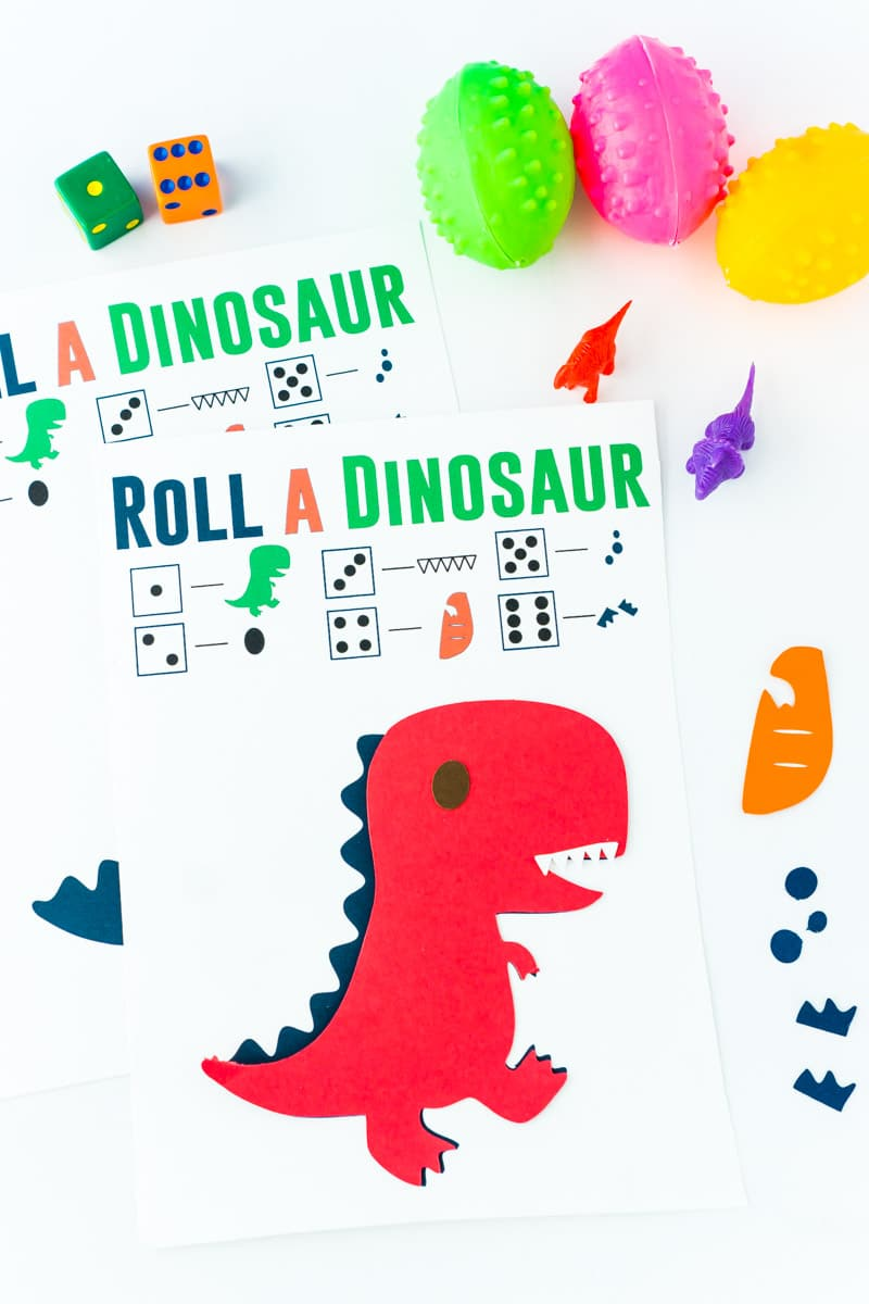 image relating to Dinosaur Matching Game Printable known as Free of charge Printable Roll the Dinosaur Match - Enjoy Social gathering Software