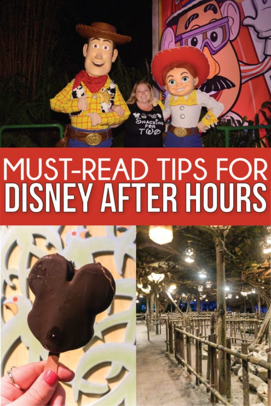 Everything you need to know about Disney After Hours 2019! Which rides are available, how much it costs, dates, characters you can meet, and more! And a full review and breakdown of each event at Hollywood Studios, Magic Kingdom, and Animal Kingdom!