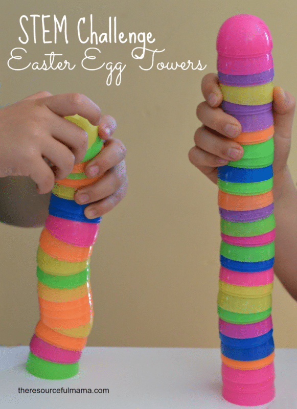 Stacking eggs makes one of the most fun Easter activities for kids