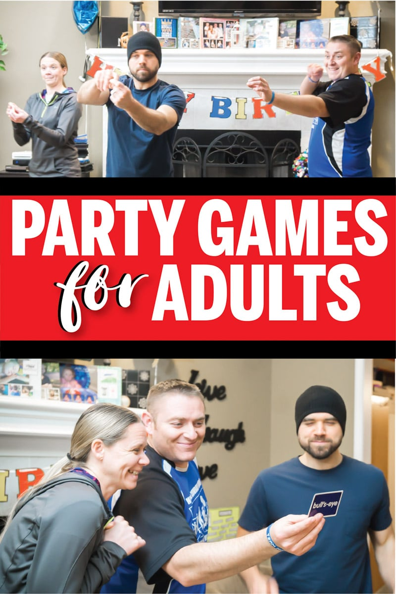 Awesome party games for adults, teens, or for adults (without the drinking!). Great for birthday parties, Christmas, or for a family reunion! Funny group games that everyone will love!