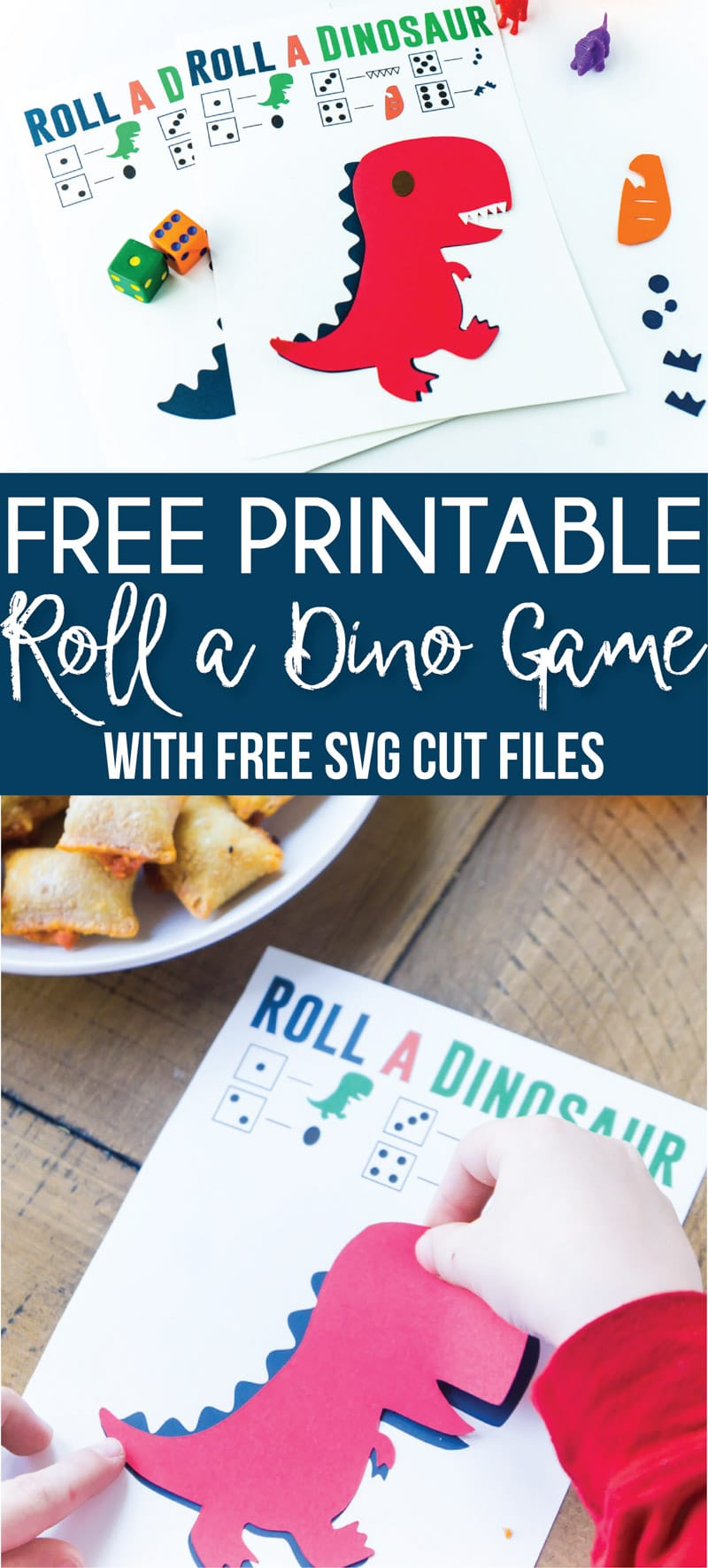 This free printable roll the dinosaur game is one of the cutest ideas for a dinosaur birthday party! Simply print out the printables, hand out the games, and play! Kids will love trying to compete their dinosaur! It's one of the best activities for boys and girls! via @playpartyplan