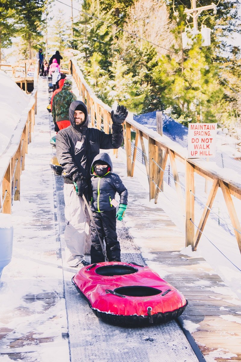 A conveyor belt at Ruidoso Winter Park