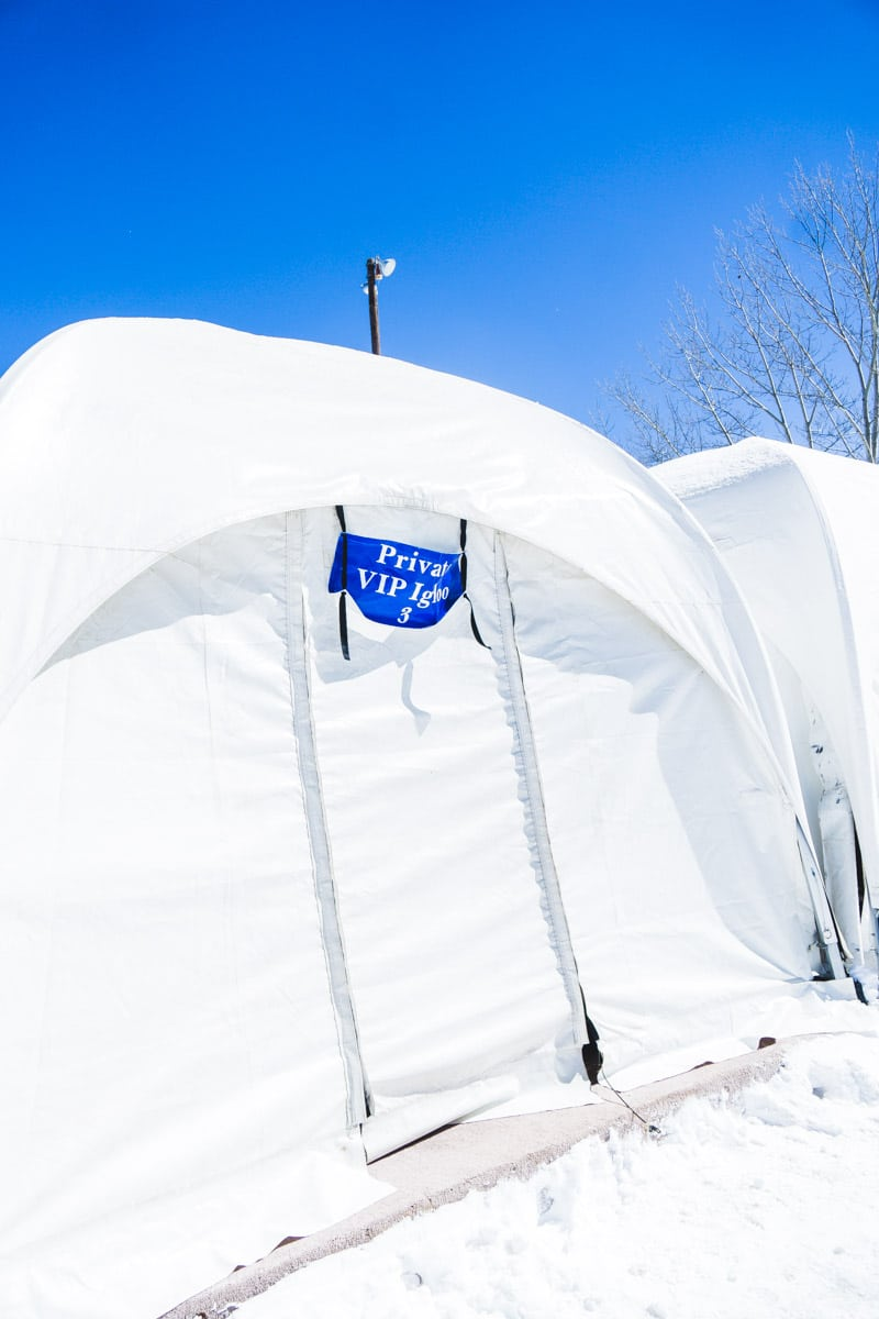 Igloo rentals at Ruidoso Winter Park in Ruidoso New Mexico