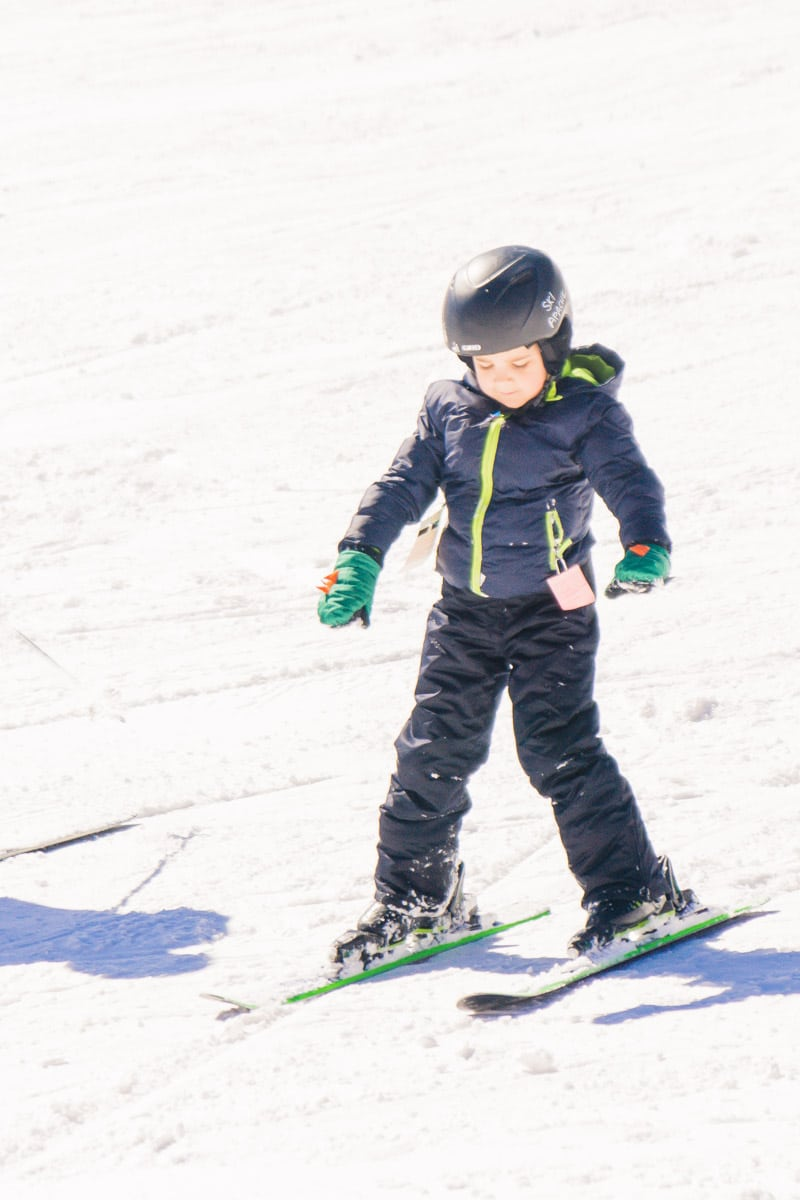 Kid doing some Ruidoso skiing at Ski Apache Ruidoso