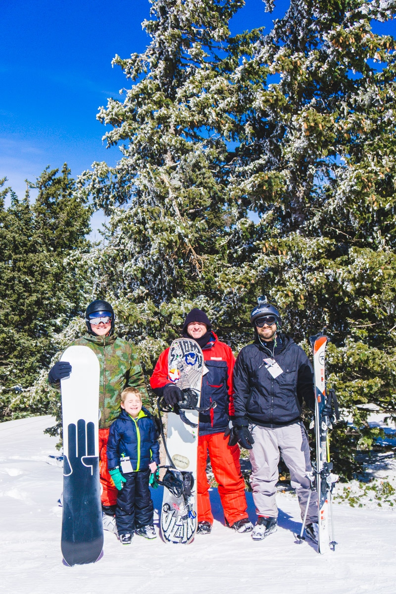 Snowboarders at Ski Apache Ruidoso