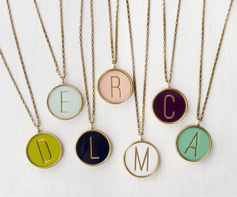Personalized necklace bridesmaid gifts