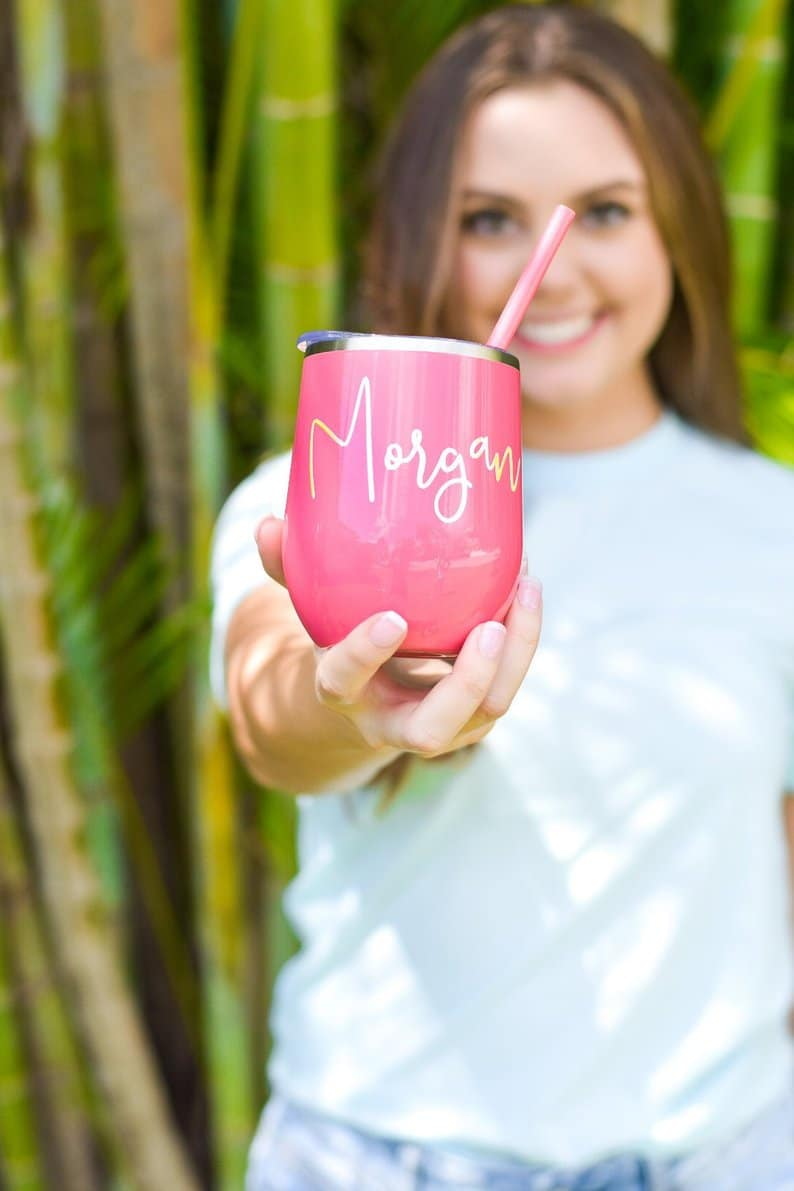 Drink tumblers make cheap bridesmaid gifts