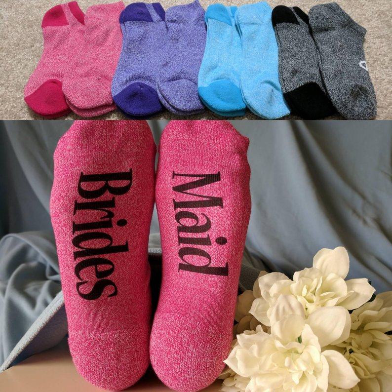 Socks for bridesmaid gifts