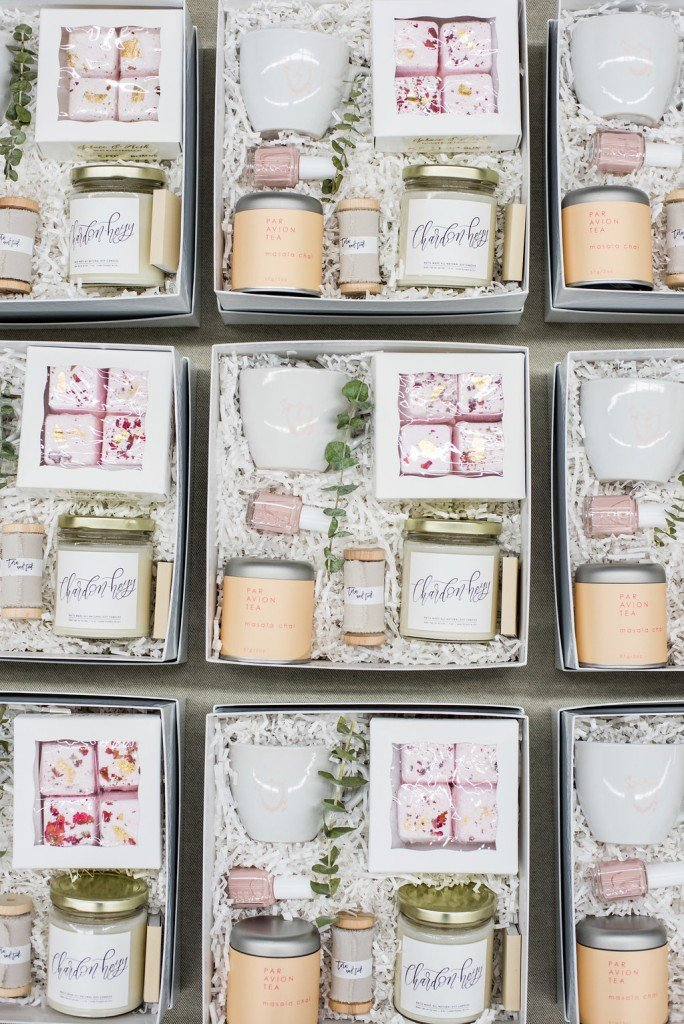 Spa bridesmaid gift boxes