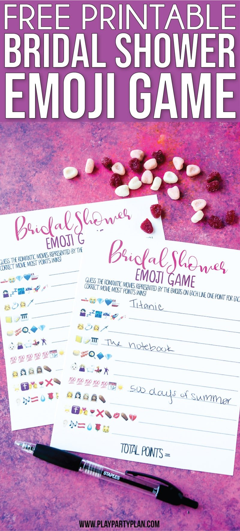 picture relating to Emoji Bridal Shower Game Free Printable named Absolutely free Printable Bridal Shower Standing the Emoji Activity