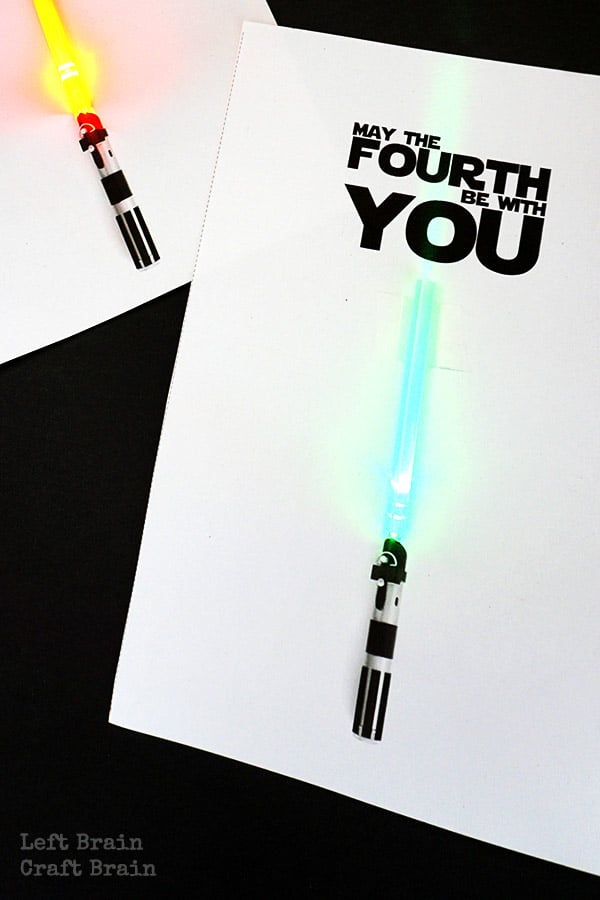 May the fourth be with you light up cards