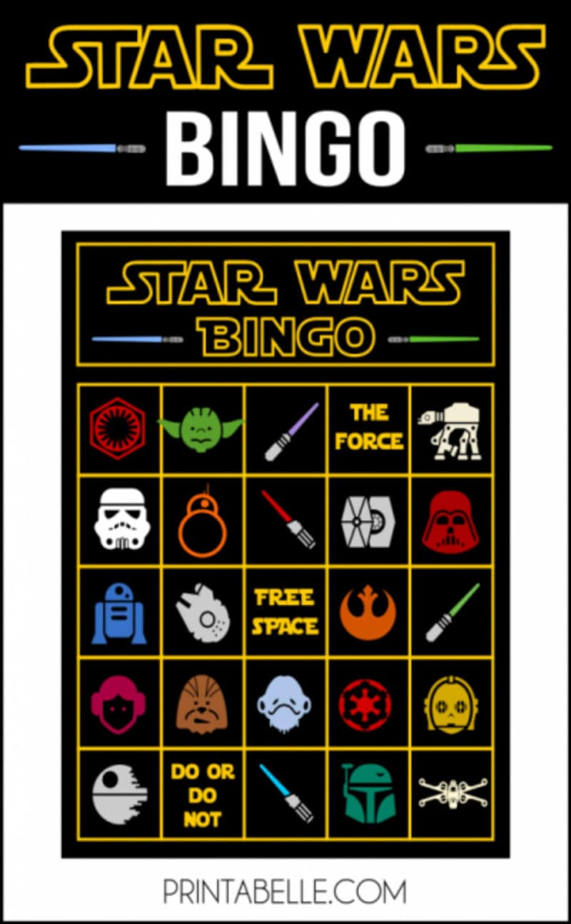 Printable Star Wars Day bingo