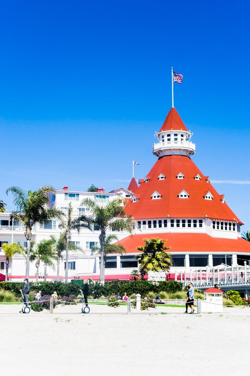Hotel Coronado seen during a Pack Up and Go trip