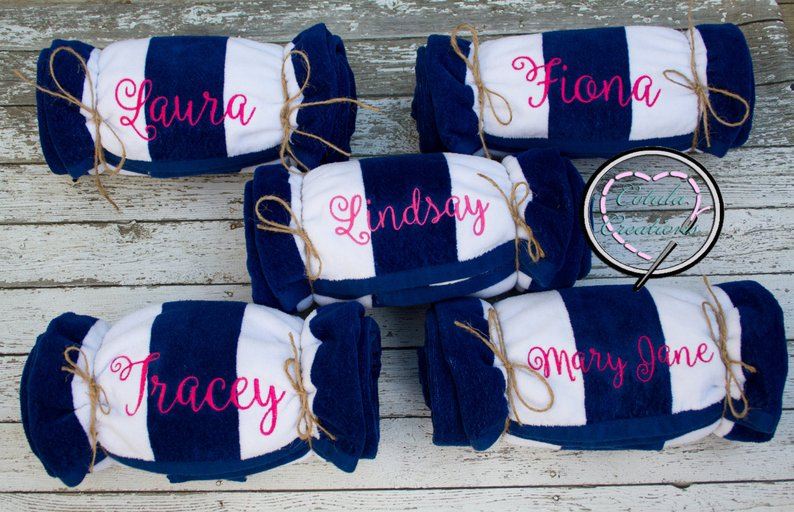 Towels make the best bridesmaid gifts