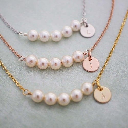 Initial necklaces and other personalized bridesmaid gifts