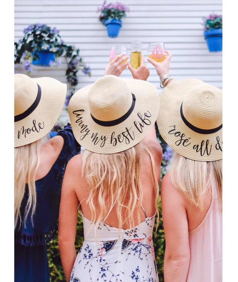 Floppy hats make the best bridesmaid gifts