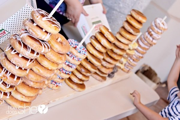 DIY donut party food display