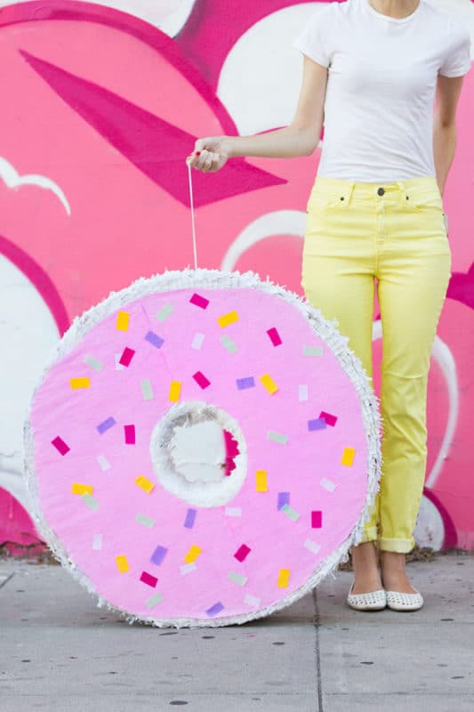 Donut pinata for a donut birthday party